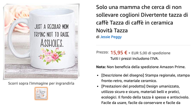 "test Twitter Media - ""Solo una mamma che cerca di non sollevare coglioni""  (https://t.co/ocx52PL74k)  #Amazon #AmazonIT https://t.co/2LKNRu1FRe"