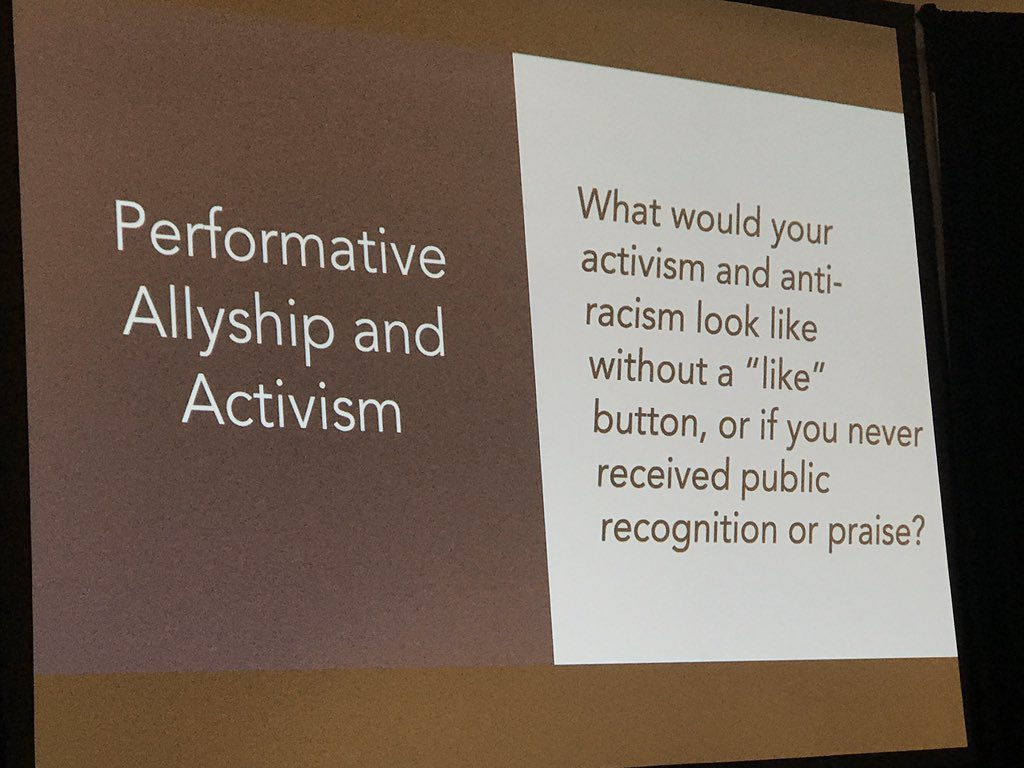 This question, y'all. There's so much to unpack here. @teachntransform at #iPDX20