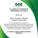 Image for the Tweet beginning: Felicitamos a la Mtra. Carmen