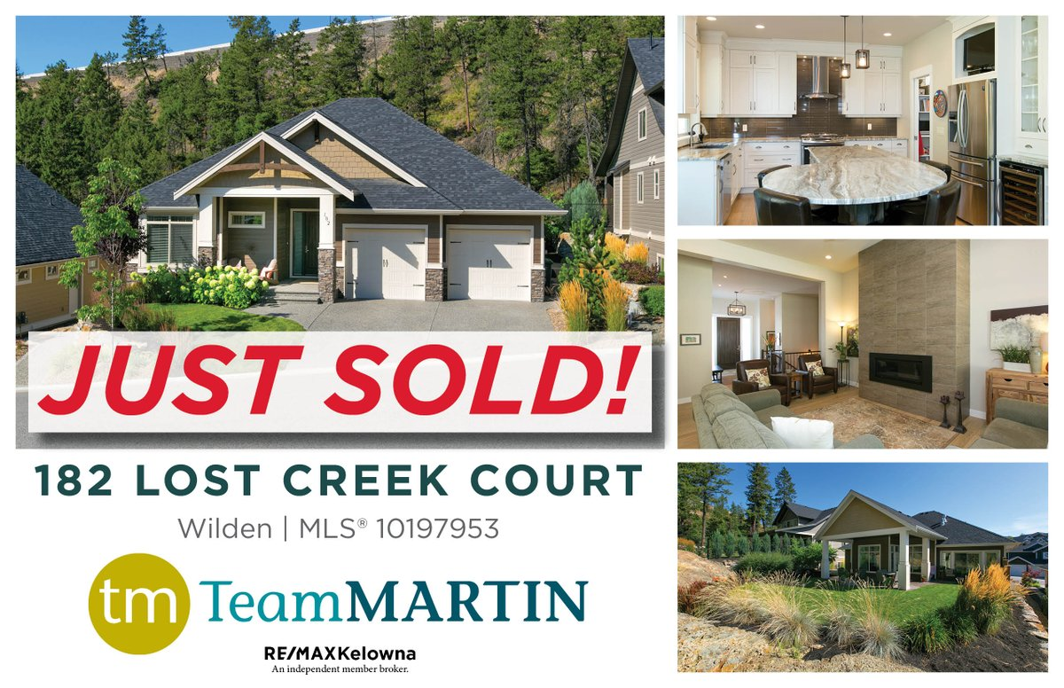 Its been an amazing start to 2020 with many happy clients! Thinking of Seling? Contact me on how our comprehensive marketing plan, award-winning service, and experienced negotiating skills can help you get your home sold! #realestate #teammartin #okangan #kelowna #westkelowna pic.twitter.com/d55zHf0VaE