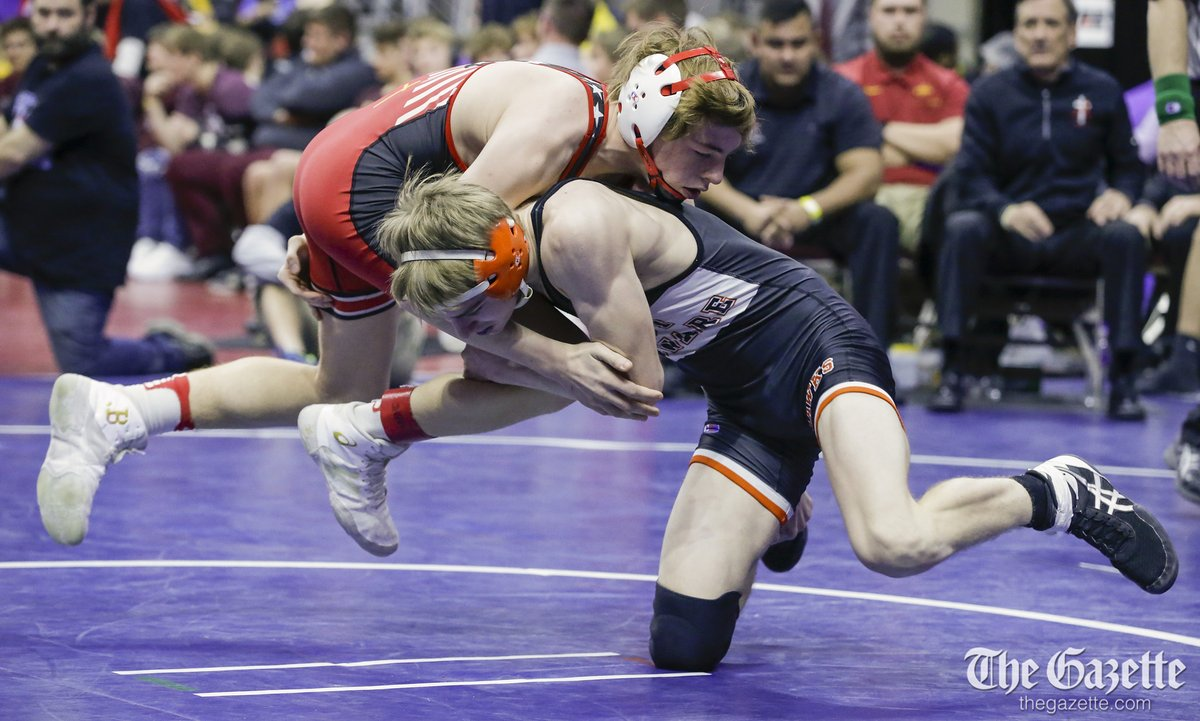 .@WDHSWrestling advances to the 2A championship match with win over Assumption. Photos: thegazette.com/subject/sports…
