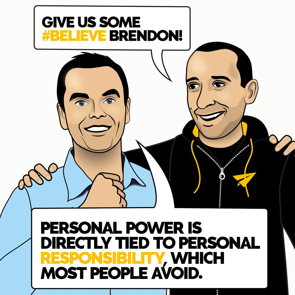 Personal power is directly tied to personal responsibility, which most people avoid. @BrendonBurchard Burchard | Do you AGREE or DISAGREE? #Believe . #boundaries #emotionalintelligence #mindset