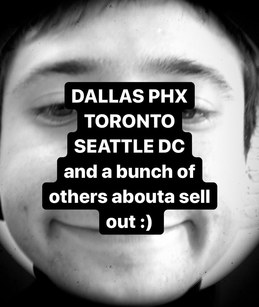 THESE TICKETS ARE GOING LIKE HOT CAKES YALL lol 4real tho if ya don't get em now then they'll probably sell out before you get a chance alecbenjamin.com/tour