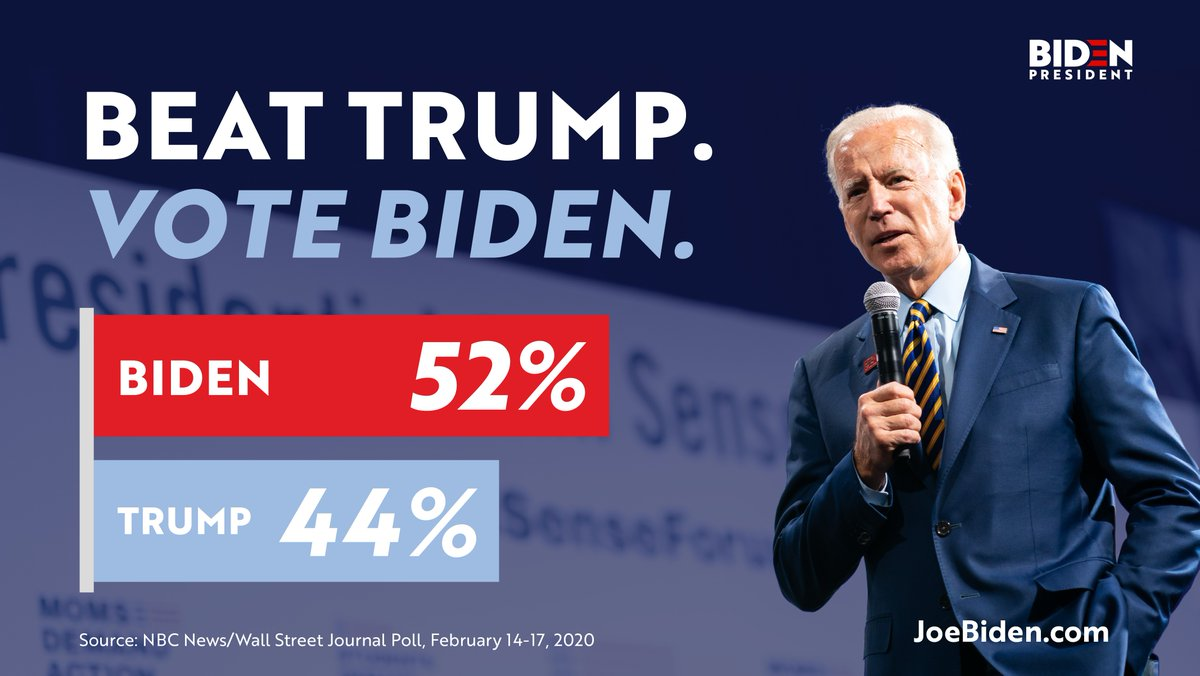 The stakes of this election couldn't be higher — we have to beat Donald Trump, and we only get one chance to do it. Poll after poll shows I'm the best candidate to get the job done.