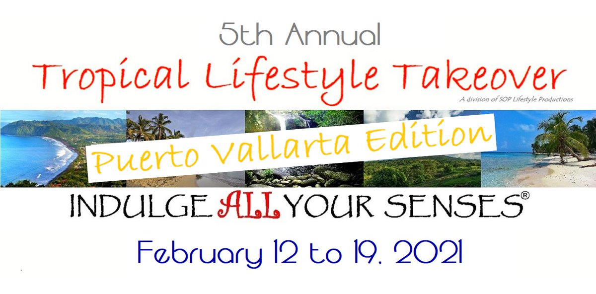 We're super excited to launch our 5th Annual #Tropical #Lifestyle #Takeover 2021 - #PuertoVallarta Edition!  Join us Feb 12-19, 2021 for an #AllInclusive #ClothingOptional #Vacation w/ #Fun #OpenMinded people! #TLT2021  #Swingers #Poly #WestCoast  https://swingeropenpoly.com/tlt/pic.twitter.com/yivhwbze50