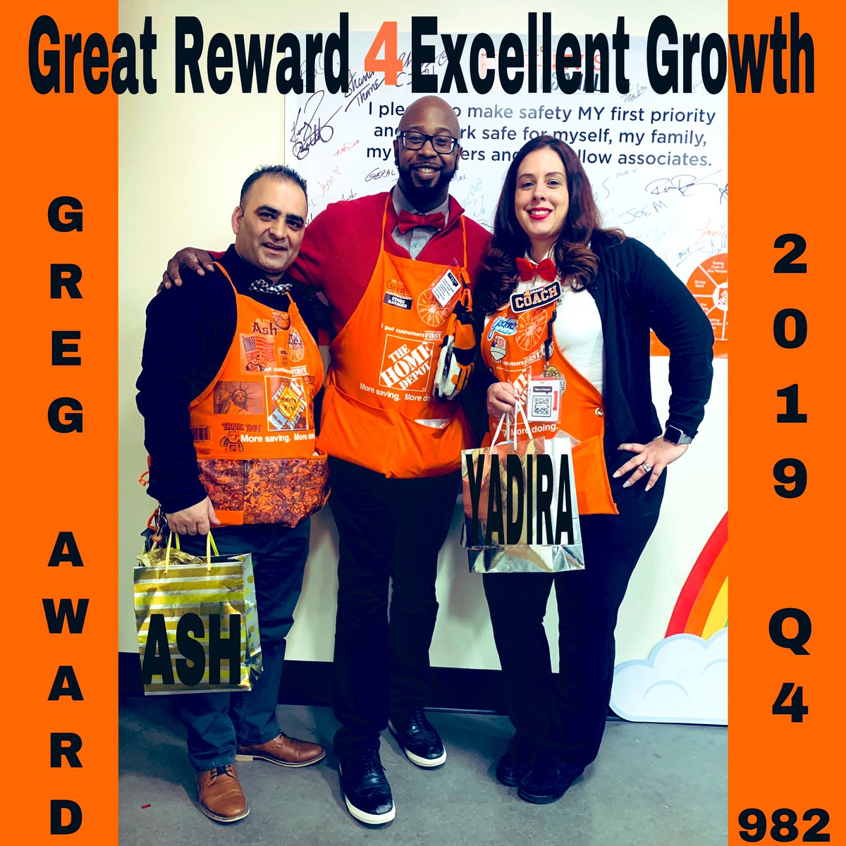 In front of our new RVP & our new DM, Stanley & ALL the SM's in the district😱, Greg decided to announce his G.R.E.G Award Winners for Q4. To my surprise I was one of them & ASH. Thank U so much! We would definitely not forget this epic moment. #GrowWithGreg #February14
