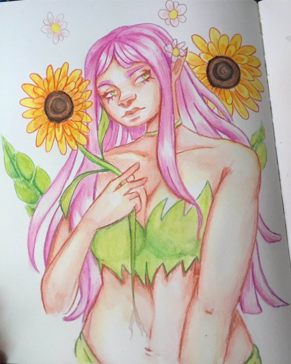 Was having fun with my watercolor pencils today #watercolor #watercolorpainting #watercolorpencils #sketchbook #artpic.twitter.com/kKEUme8ft1