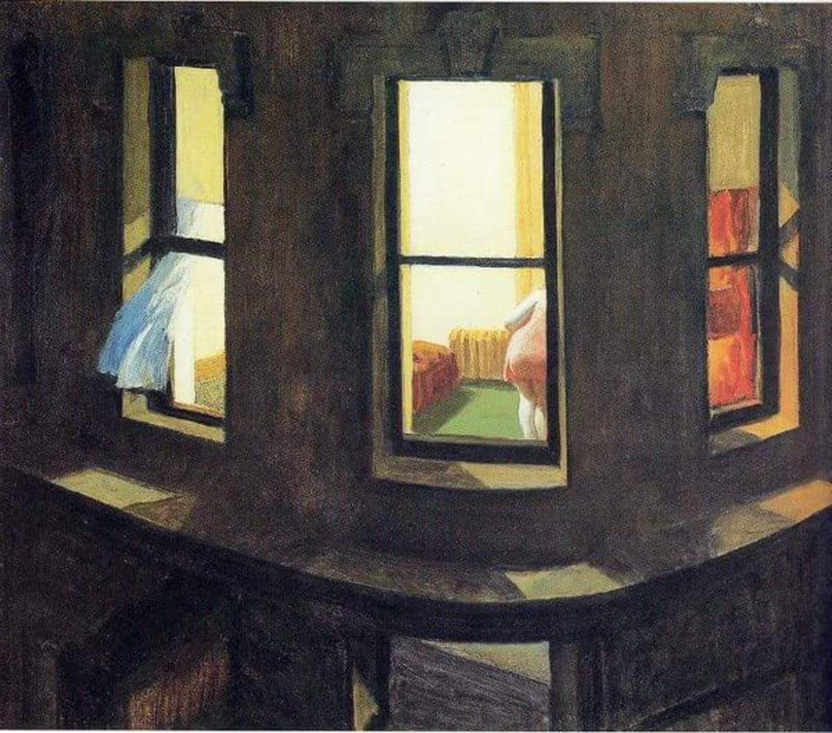 Night Windows. Hopper