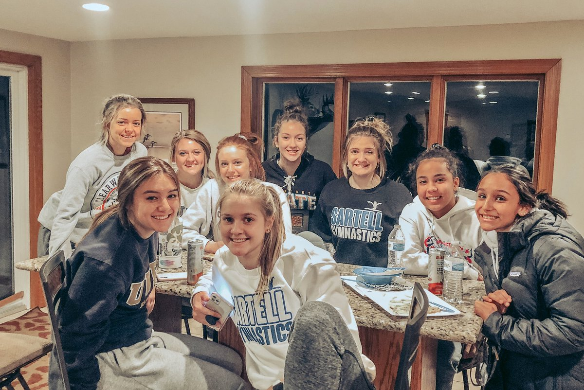 Fueling up for State this weekend! We are thankful for these last few moments spent together! #LoveWhatYouDo #State2020 #ForEachOther pic.twitter.com/iShCayVx13