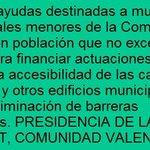 Image for the Tweet beginning: #Ayudas #subvenciones #España #municipios #entidadeslocales