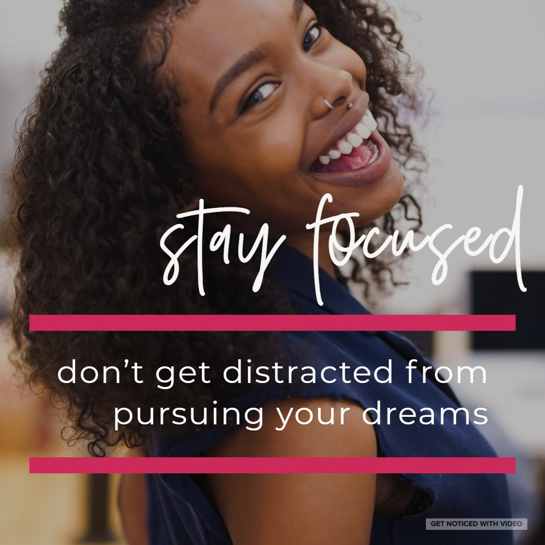 What is your dream? Stay Focused. Whatever your dream(s) may be, don't allow irrelevant distractions to keep you from pursuing them. #mondaymotivation #MLKDay  <br>http://pic.twitter.com/pJfYsqMlOQ