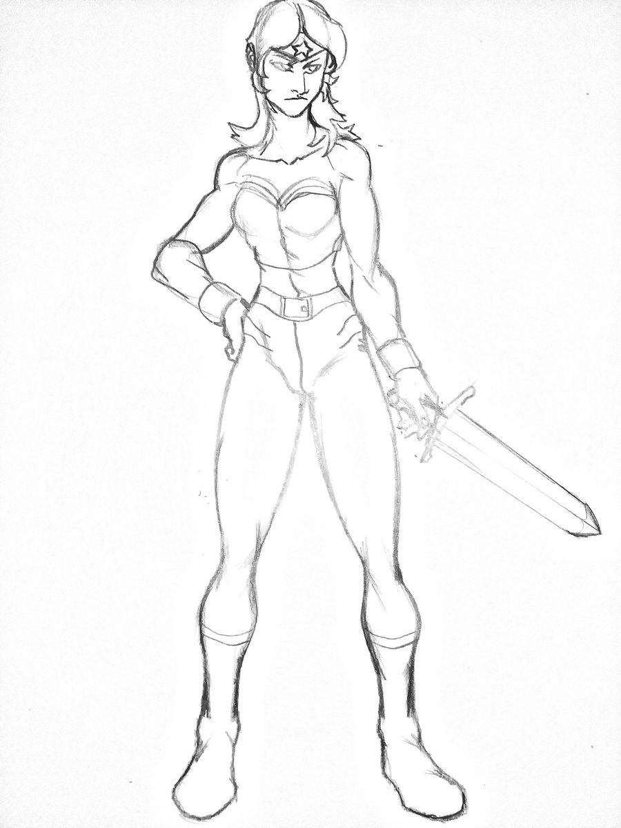 I DREW A #WONDERWOMAN  I've always been a fan of superheros.  Its a big thing with my style and I am planning on making many superhero style comics later on. ( the #furry kind )  Anywho, I remember seeing the #WonderWoman1984 Trailer .  Cant wait to see it.pic.twitter.com/HAfPVp2b6I