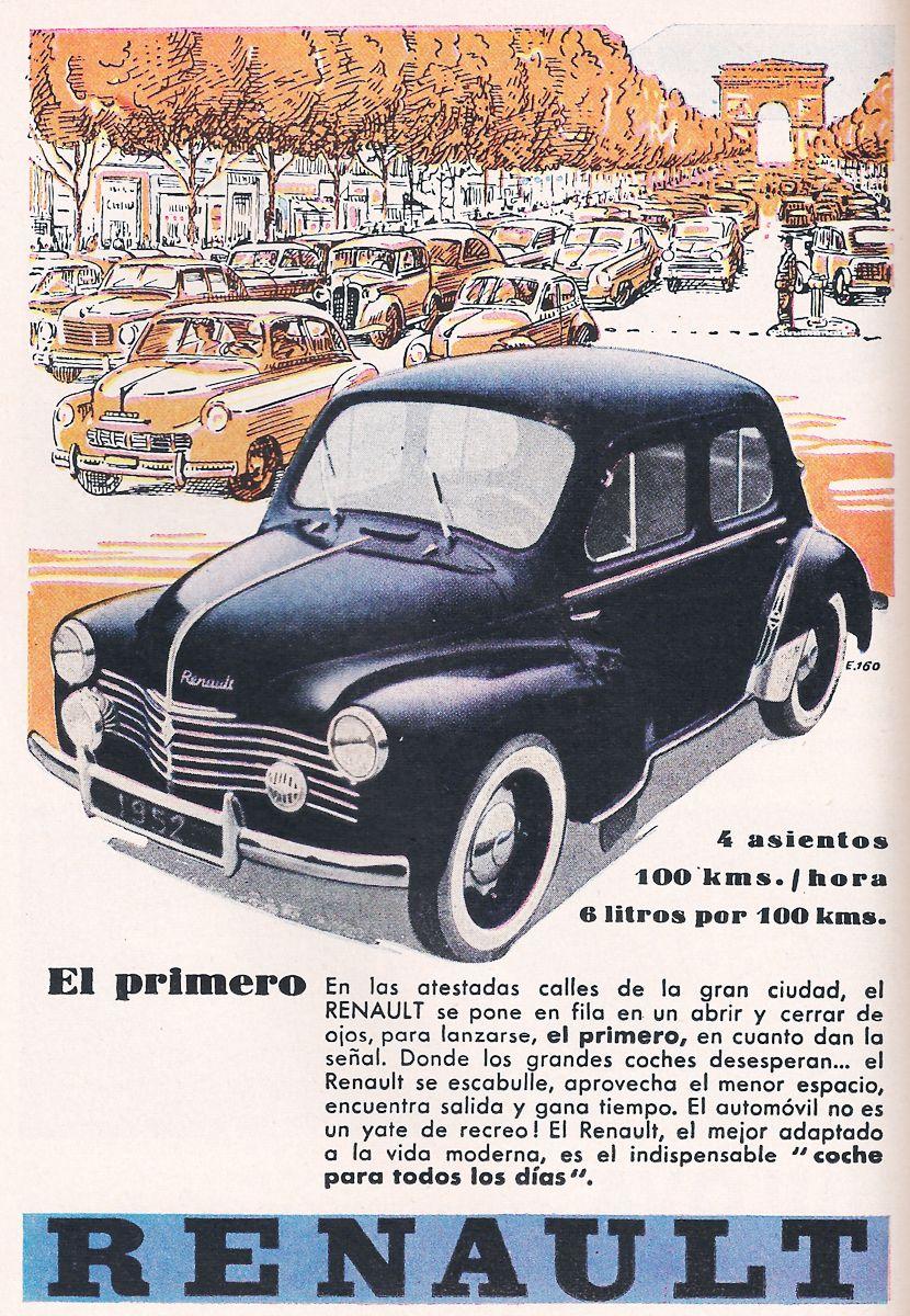 test ツイッターメディア - Automóviles, publicidad de un automóvil marca Renault 4CV, dos puertas, cuatro asientos y desarrollaba una velocidad de 100 kilómetros por hora, año de 1952. https://t.co/q7wXJbEjyt