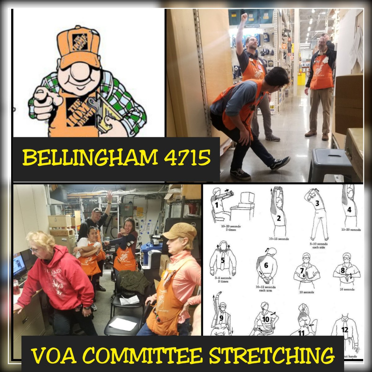 In Bellingham Safety is personal. It's time for our 2pm Stretch and Flex. #safetyispersonal @Henderson20Dave @TracieD317pic.twitter.com/zLPXvd2jZE
