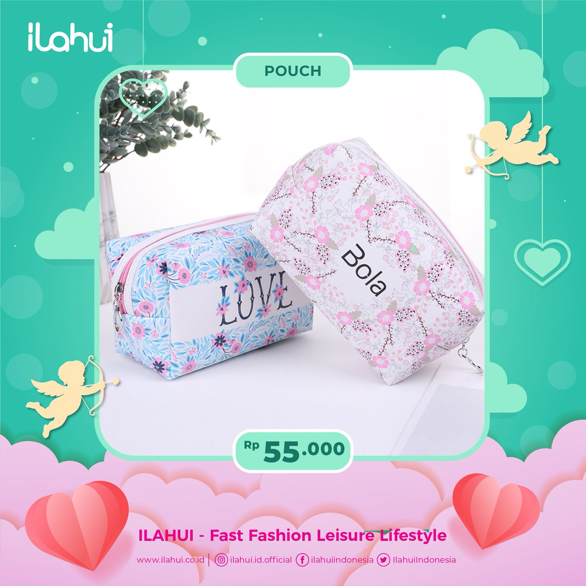 Makeup kamu juga butuh tasnya sendiri. #kuykeilahui untuk melihat koleksi pouch lainnya. -  #kuykeilahui #ilahuiindonesia #ilahuiofficial #accesories #fashion #jewelry #leisure #lifestyle #koreanstuff #pouch #makeupbag #makeuppouch