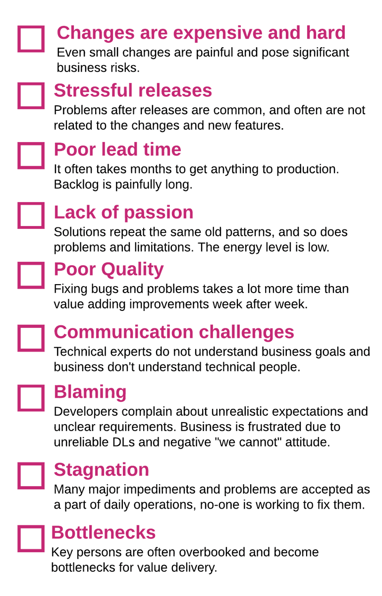 Heres a checklist for your software team(s). How many boxes will you tick? #softwaredevelopment  #agile  #lean  #improvement  #business     https://buff.ly/2UUJZiX