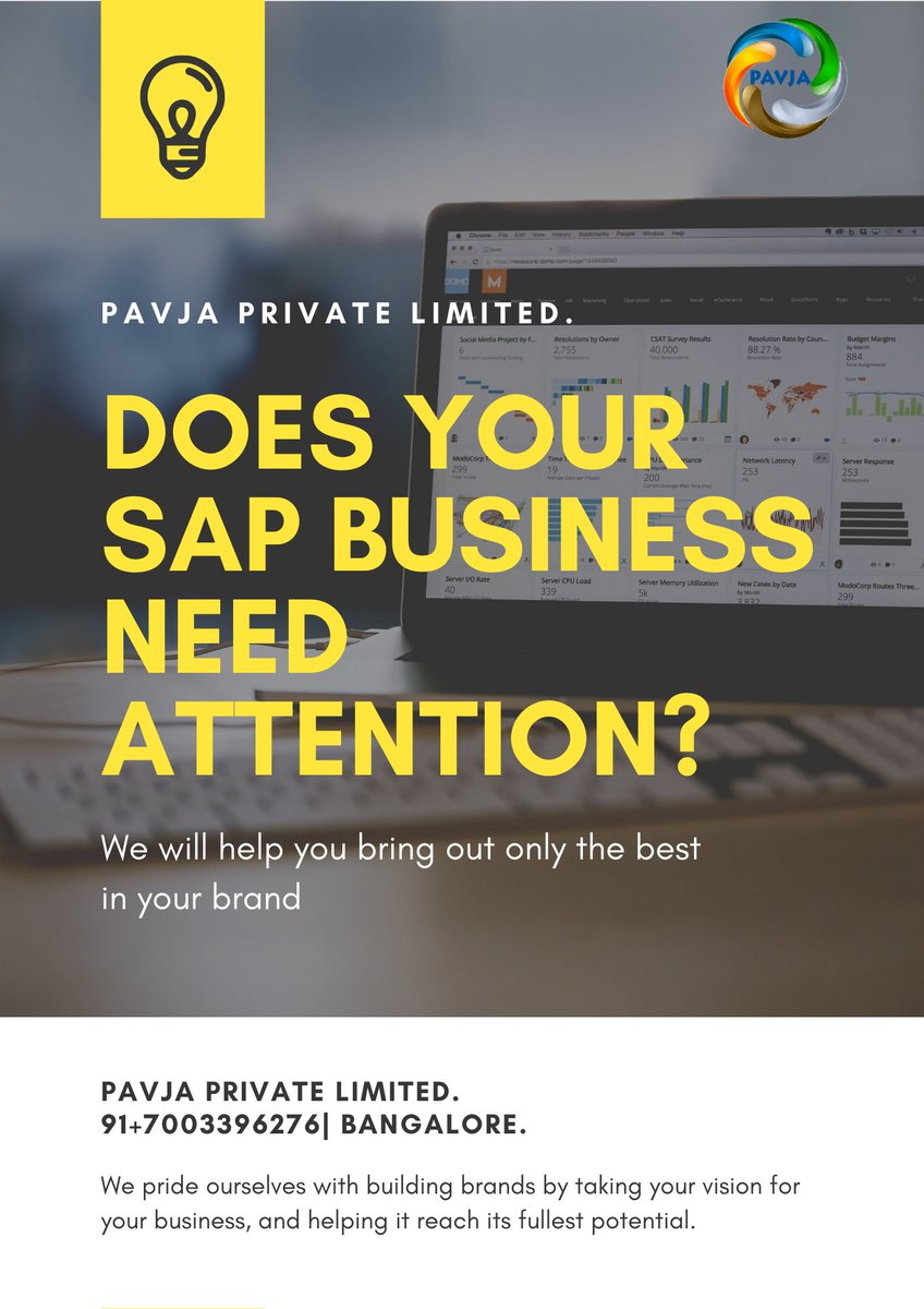 Does your SAP Business need Attention!! We will help you bring out only the Best your Brand. https://www.pavja.com  #sapsolutions #saps4hana #sapimplementation #saphana #sapsuccessfactors #sapbusinessbydesign #sap #sapbusinessone  @SAP @SAPBusinessOne @SAPInMemorypic.twitter.com/uiLjWIXkG8