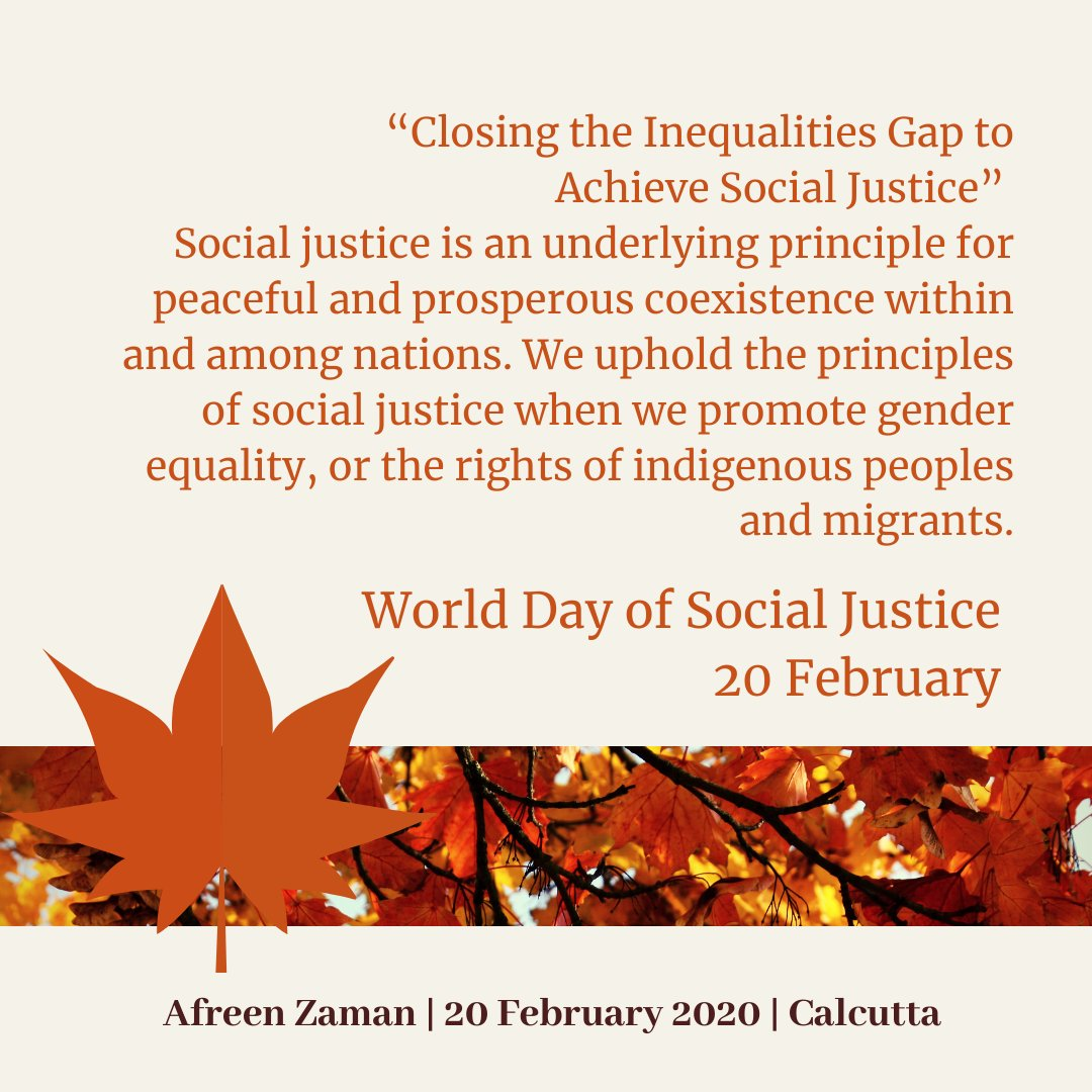 World Social Justice Day || 20 February || United Nations  #WorldSocialJusticeDay  #unitednations  #socialjustice  #equalities  #inequalities  #peace  #harmony  #coexistence     https://www.un.org/en/observances/social-justice-day  …