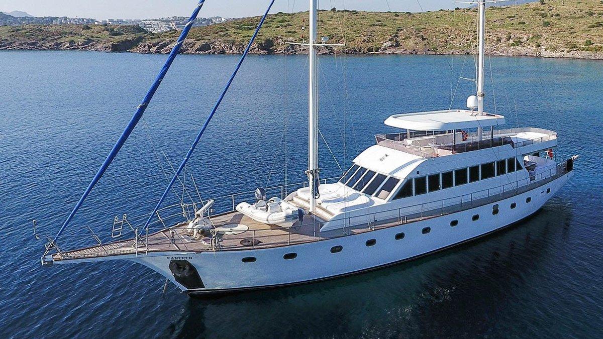 4 kabin/9 kişilik/ 4 mürettebat https://heraguletcharter.com/charter/caneren/…  #gulet #yacht #bodrum #maviyolculuk #mavitur #bestprice #yachtlife #yachtlover #boating #boat #boatrental #agency #agent #travelagentpic.twitter.com/nNn36daWwf