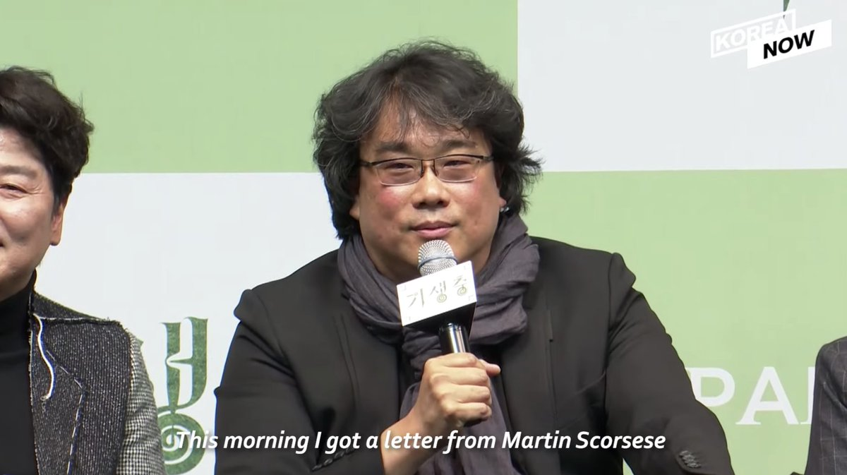 Bong Joon Ho on the letter he received from Martin Scorsese after PARASITE's historic Oscar wins.pic.twitter.com/KXHII8DCXl