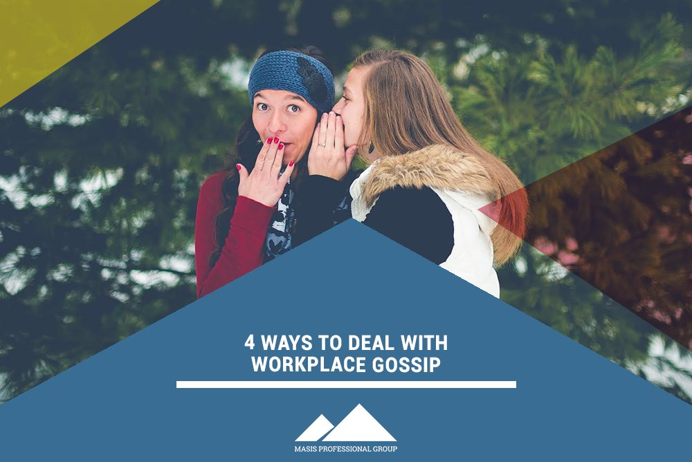 Gossip is unavoidable and affects your #productivity and office morale. Want to know how to handle it? Read on to learn the 4 Ways to Deal with Workplace Gossip: https://bit.ly/31LXAdQ #success #successtips pic.twitter.com/RP1ASyOSDZ
