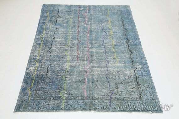 6'2x8'9 ft, TURKISH Rug, VINTAGE Rug, Distressed, Oushak Rug, Area Rug, Wool, Striped, Room Decor, Living Room Rug, Turkey, Handmade, Blue by TurkishRugArts https://ift.tt/2V8Ei10pic.twitter.com/Mzyo21qTTH