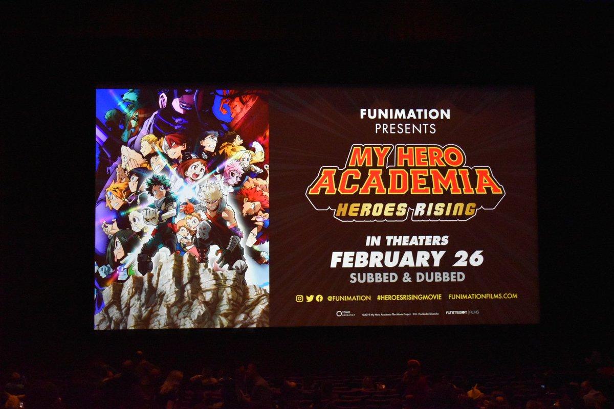 My Hero Academia Heroes Rising Premiere