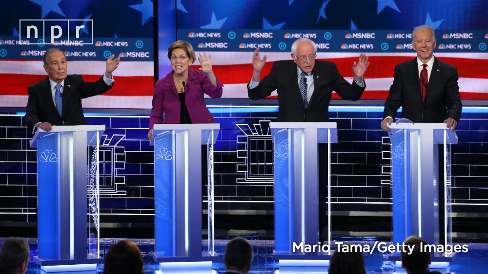 All of the candidates on tonight's #DemDebate stage have been challenged on the issues, their experience, even their supporters' behavior. Stay caught up with NPR reporters' live updates and analysis: https://trib.al/9BD6oes