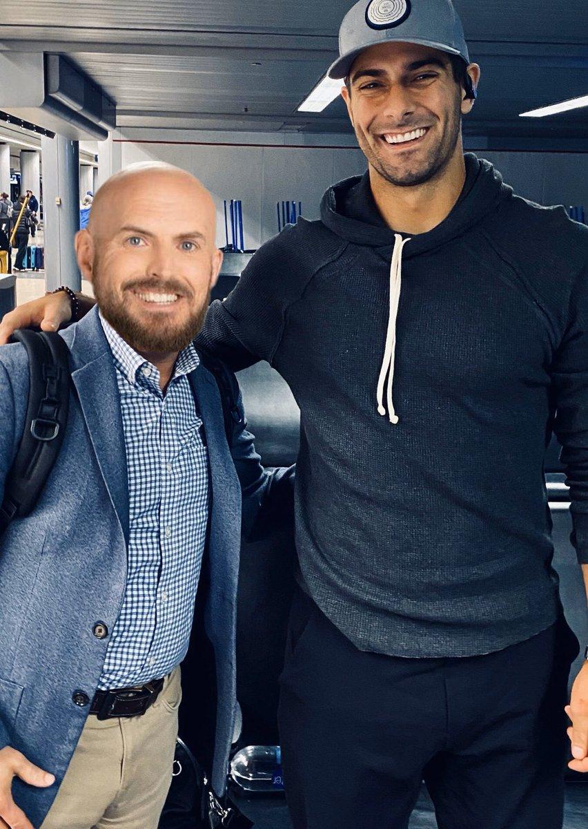 "Jimmy Garoppolo Height:  13' 3""  Adam Rank Height:  3' 13""  @adamrank @JimmyG_10 #GoNiners #49ers  Original @lgoldberg35pic.twitter.com/zrezqAjMAR"