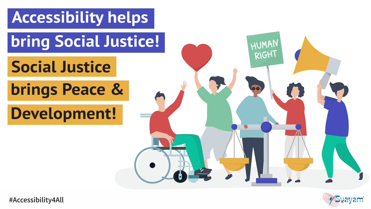 When we remove barriers that people face because of their gender, age or disability, everyone flourishes. Accessibility can help in closing the inequalities gap to achieve social justice. #WorldDayofSocialJustice #SocialJustice #SocialDemocracy #Accessibility4All