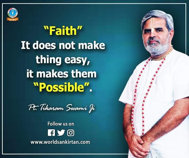 "|| आज का सुविचार ||   ""Faith"" It does not make thing easy, it makes them Possible. http://bit.ly/2UJVKJ0 -पंडित टीकाराम स्वामी जी   #inspiration #motivation #spirituality #quotes #lifelessonspic.twitter.com/FDuhhdvwKz"