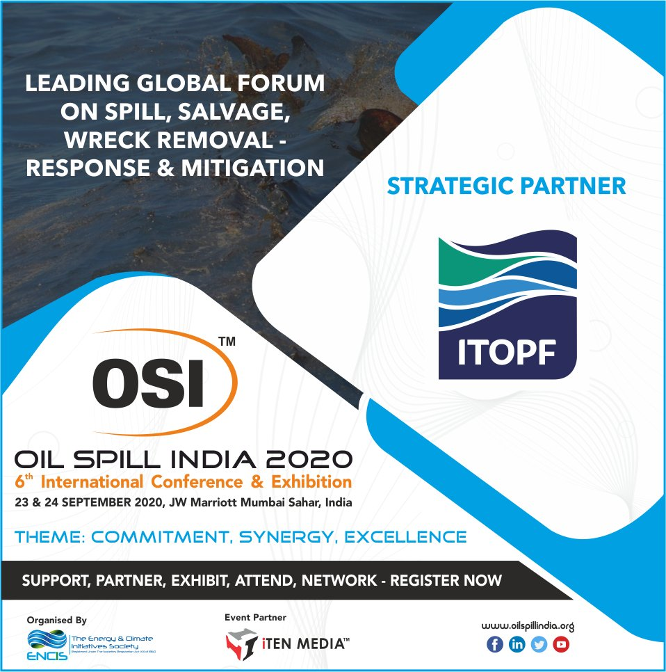 "Pleased to Announce & Welcome, ""ITOPF"" as Strategic Partners for OSI 2020 !! #exploration #oilandgas #energy #offshore #oilspill #oil #subsea #onshore #remediation #marine #shipping #mitigation #preparedness #response #renewables #internationalconference #scienceandtechnologypic.twitter.com/PbYAhMlJ8e"