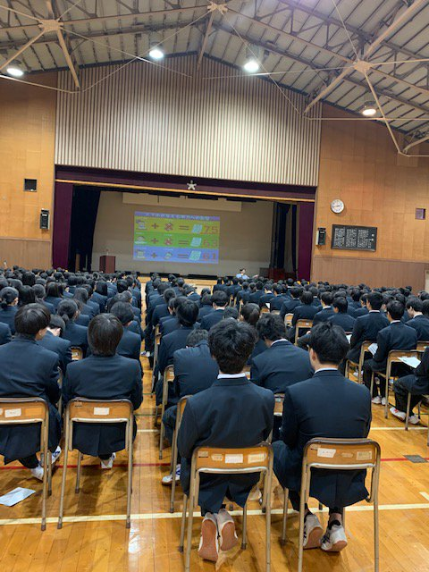令和2年2月20日 流山高等学校 SNS講演会 動画炎上、ネットでの出会いの危険性、ネット犯罪、ネットいじめについてお話させていただきました。生徒の皆さんは集中力を切らさずに最後まで話を聞いてくれました。