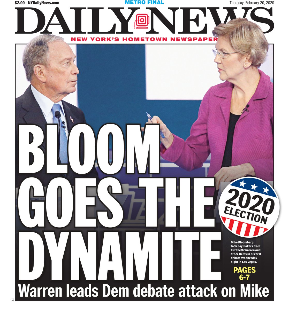 Warren mounts comeback — at Bloomberg's expense