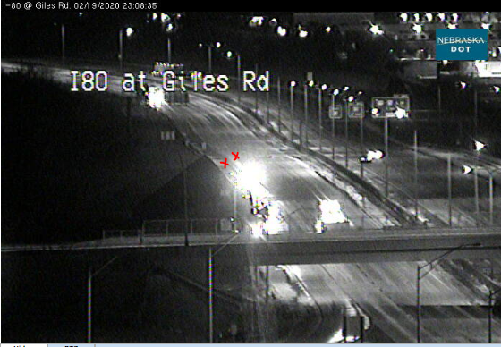 Image posted in Tweet made by Omaha Hwy Conditions on February 20, 2020, 5:07 am UTC