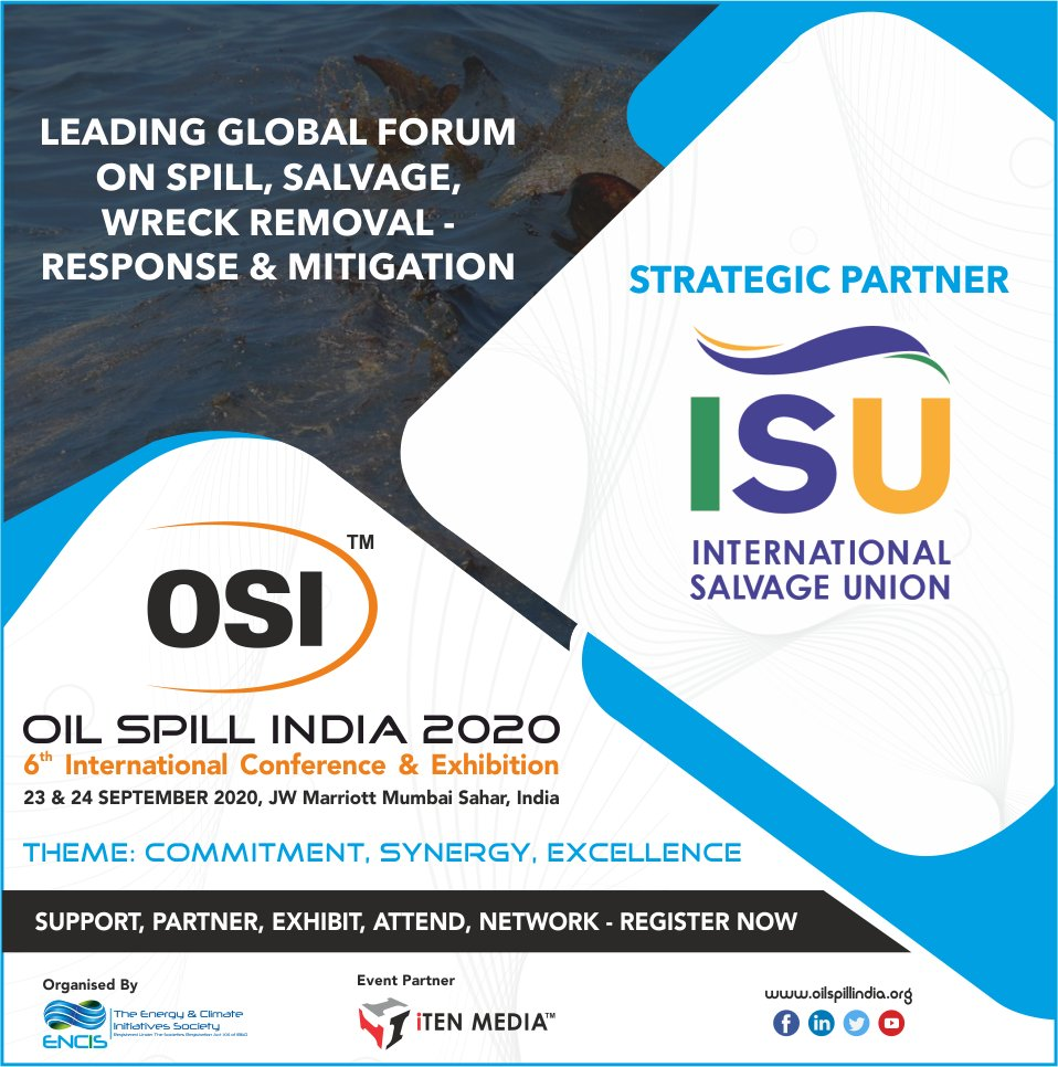 "Pleased to Announce & Welcome, ""ISU"" as Strategic Partners for OSI 2020 !!  #exploration #oilandgas #energy #offshore #oilspill #oil #subsea #onshore #remediation #marine #shipping #mitigation #preparedness #response #renewables #internationalconference #wreckremovalpic.twitter.com/2qXlxTsTXH"