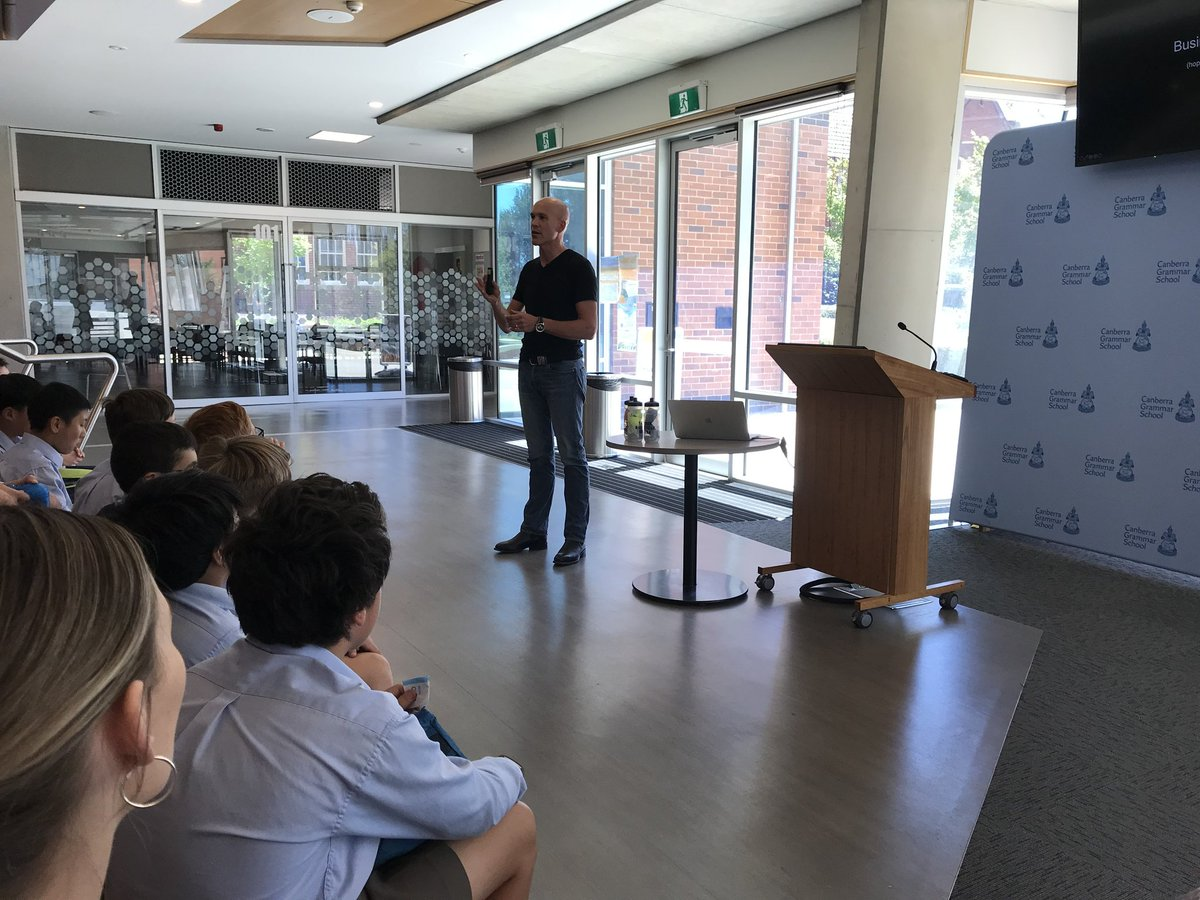 Today, we kicked-off the first of the 2020 CGS Insight speaker series with Philip McGlade, @TrekBikes CEO, who spoke about how the bike industry & Trek are helping to solve the issue of climate change, career paths & advice for the future leaders of our country. Thanks Philip!
