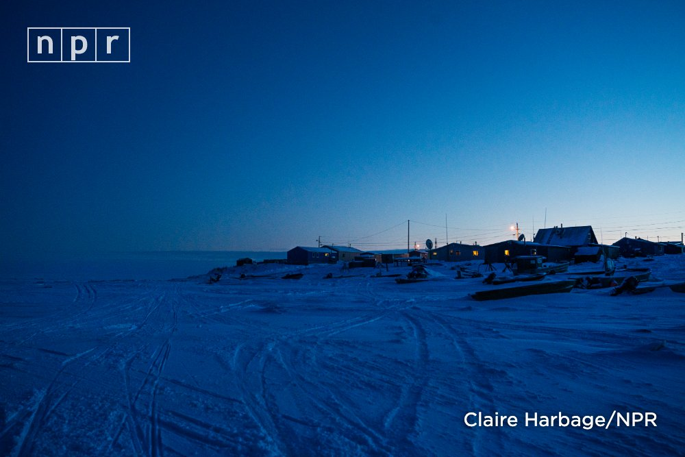 Cross the treeless, frozen tundra of southwest Alaska, over ice-covered lakes and ponds near the Bering Sea, and you'll find the first community in the U.S. counted for the 2020 census. https://trib.al/cNyRjAD