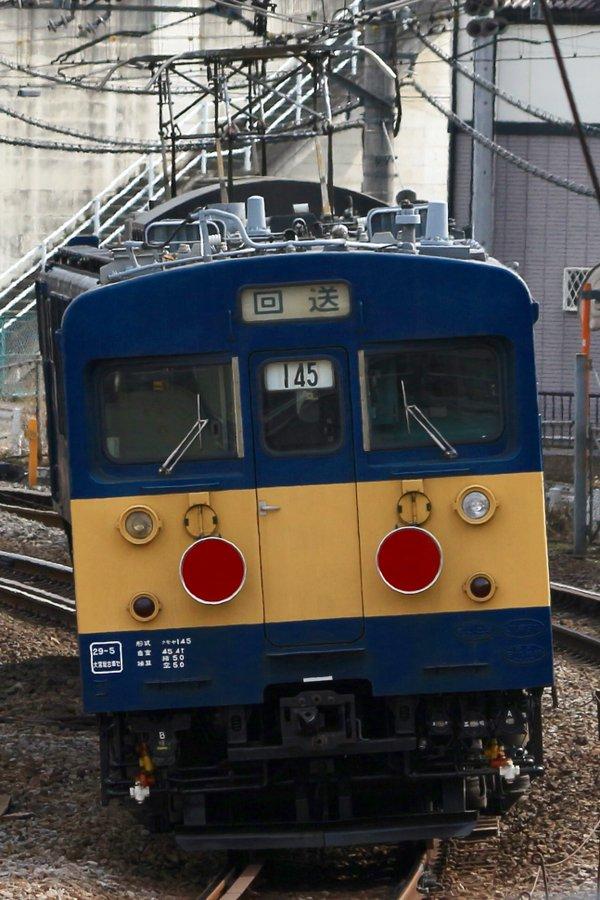 高崎車両センターのクモヤ145系-107が長野へ廃車回送される