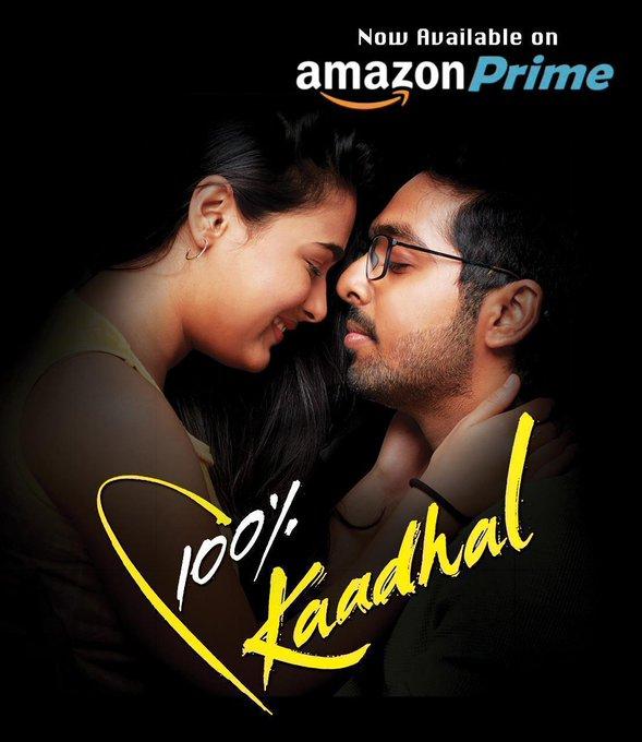 100%kadhal now on Amazon Prime @gvprakash @ShaliniPandey_pic.twitter.com/187iW9RDc1