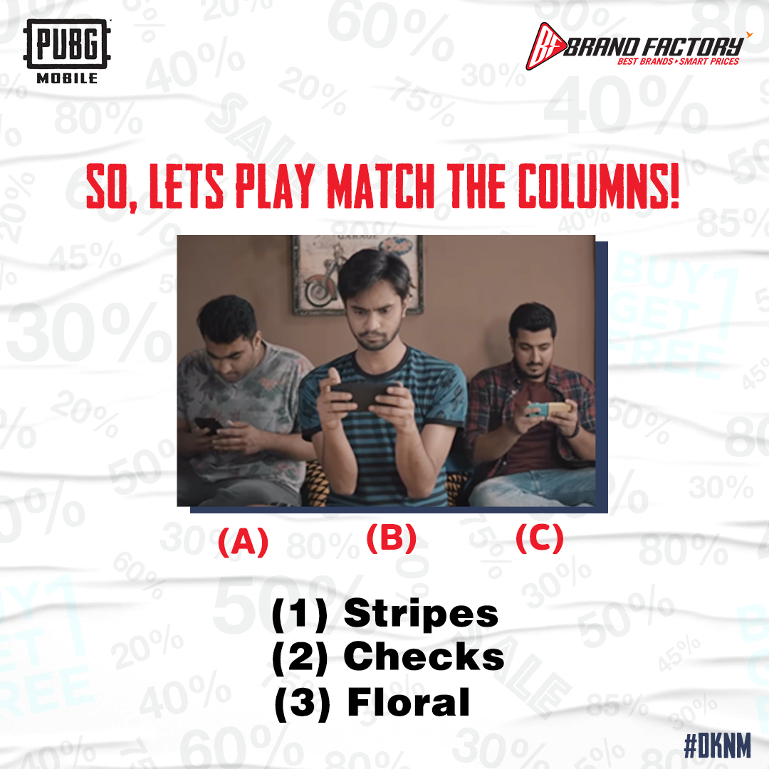 #ContestAlert Do you remember those match the column questions? Well, we're feeling nostalgic today! Let's do it again. Comment down your answers below and stand a chance to win an exciting gift voucher. #PubG #DKNM