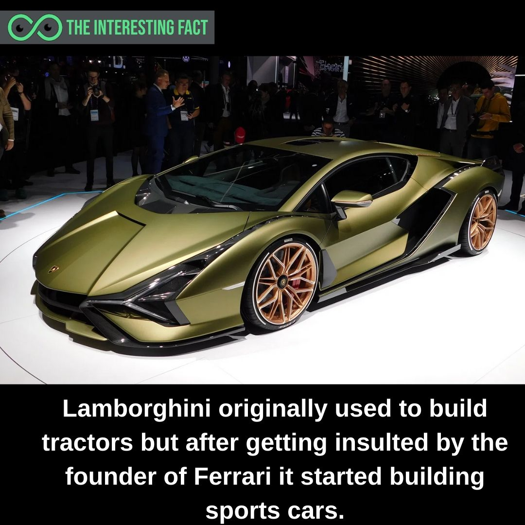 There are several unknown facts for more visit: https://theinterestingfact.com/  #facts #bigfacts #interestingfacts #funfacts #instafacts #instabigfacts #factsoflife #factsonly #factsdaily #factsmatter #ferrari #cars #sportscars #lamborghini