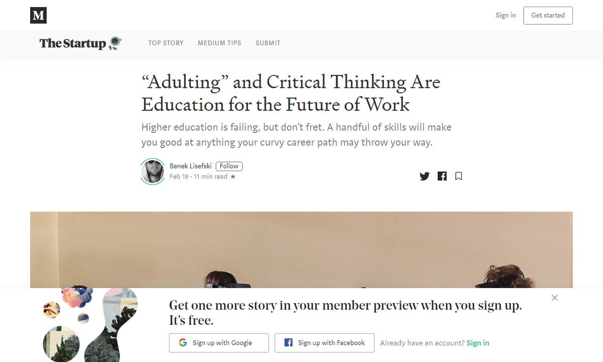 Adulting and Critical Thinking Are Education for the Future of Work #criticalthinkingeducation #anything #classes #years #point #remotework via @medium ☛