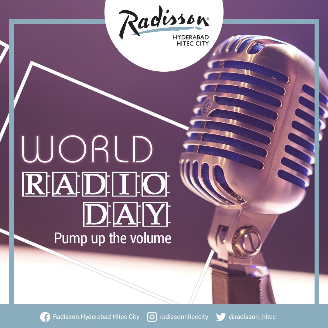 """When the radio keeps silent, our ears shall never hear the real details!""@radisson_hitec #Hyderabad #WorldRadioDay#radioday #ThursdayThoughts #ThursdayMotivation"