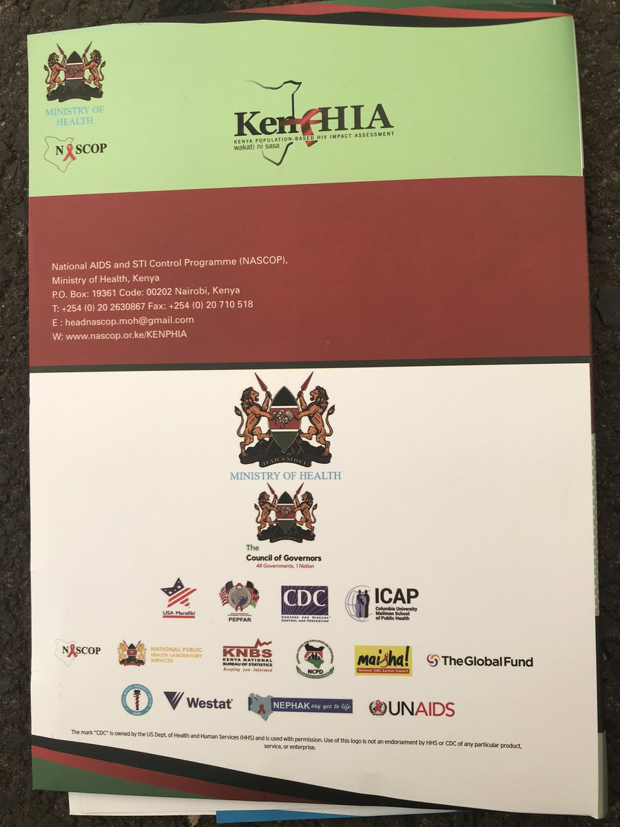 Today we are launching #KENPHIA. The findings will provide national and all 47 Counties' HIV prevalence and progress towards UNAIDS 909090 targets among others. @MOH_Kenya @NACC_Kenya @Winnie_Byanyima @ShannonHader @UNAIDS @sidchat1 @Medhin_Tsehaiu @UnKenya