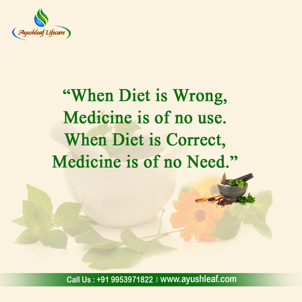 """""""When diet is wrong, medicine is of no use. When diet is correct, medicine is of no need."""" #AyusleafLifecare  #WeightLoss  #Ayurvedic  #Herbal  #HerbalSupplements  #Solution  #Natural  #JointPain  #Fitness  #Wellness  #Healthy  #FitnessGoals"""