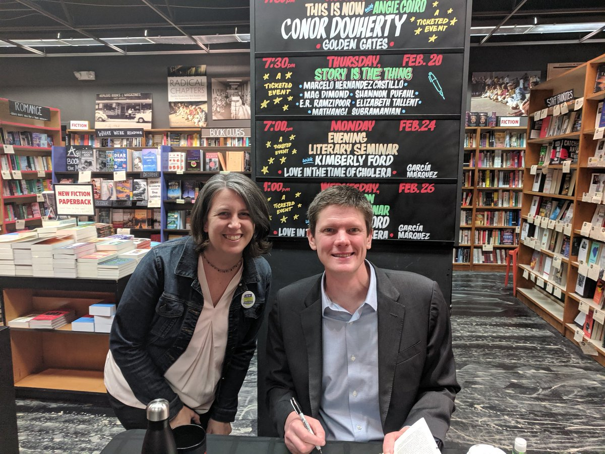 Thanks @ConorDougherty, author of #GoldenGates, for coming to @Keplers in #menlopark! Loved your #buildbuildbuild article in the @nytimes.
