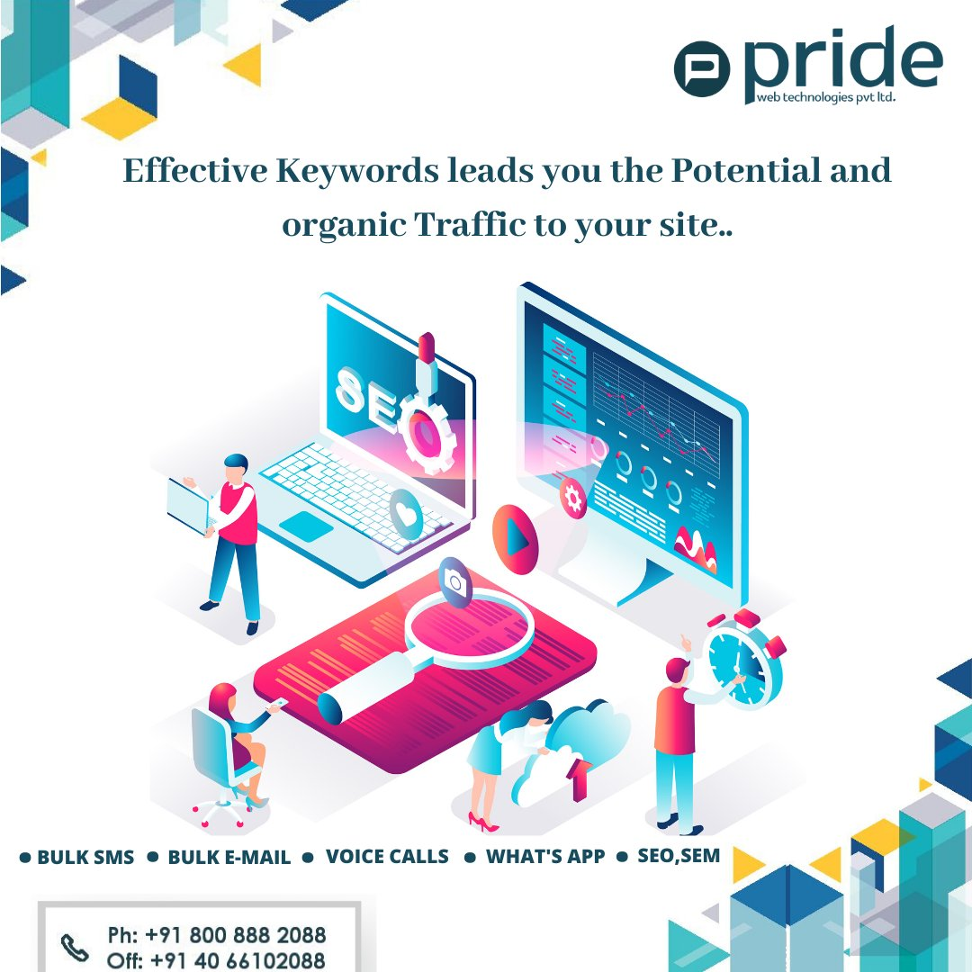 Contact us:-8008882088, 040-66102088 Website:-www.pridewebtech.com  #pridewebtechnologies #Keywords #howtobringorganictraffic #Leads  #socialmediamarketing #digitalmarketing #Bulksms #voicecalls #whatsapp #seo #graphicsdesign #webdesigningpic.twitter.com/VuqZ4DD7VQ