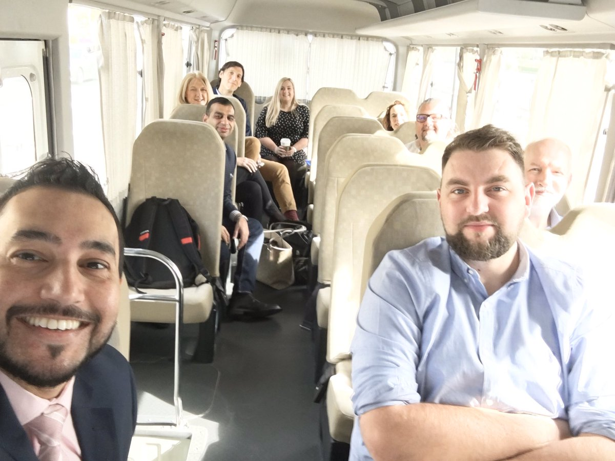 The bus reminds me of my school picnic days! Off we go, to tour & a get briefing from buyers at @CateringFlight's #FoodPoint facility, which produces 52 million meals annually! #EKFC #ScotlandIsNow @Gulfood  @DITIscotland @ScotDevInt @LochDuartSalmon @vegware @No_Sin_Ginpic.twitter.com/RhRNRfrc7B