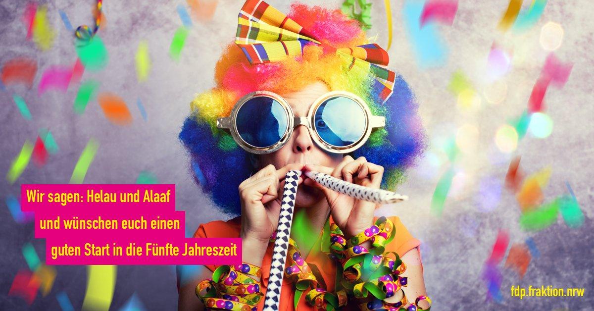 Alaaf und Helau an alle Jecken und Narren! Wir wünschen euch allen von Weiberfastnacht, über Rosenmontag bis Veilchendienstag tolle Karnevalstage in NRW, der Karnevalshochburg Nummer 1!#karneval #ltnrw #fdp #nrwpic.twitter.com/65A6SGrlUY